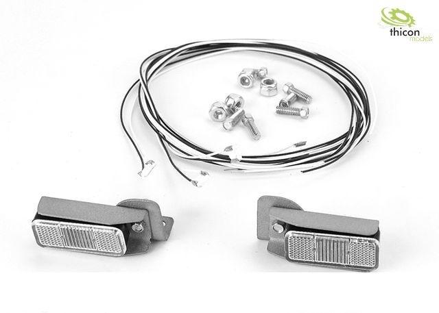 Rückleuchten mit Metallhalter und LEDs für Baumaschinen