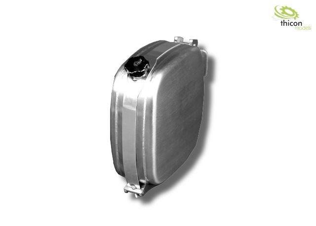 1:14 Kraftstoff/Hydrauliktank 36mm mit Tankhalter aus Alu