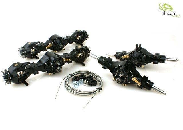 1:16 8x8 Achspaket sperrbar Metall schwarz 3:1