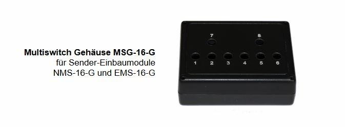 Multiswitch Gehäuse MSG-16-G für Sender-Einbaumodule
