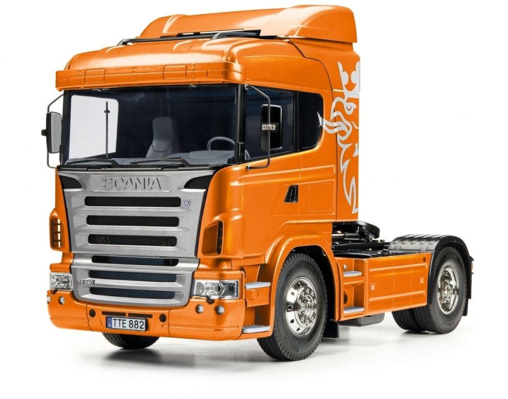 1:14 RC Scania R470 4x2 Orange metalic Vorlackiert