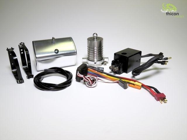 Hydraulik-Set 4-Achs Hinterkipper mit Zylinder und Pumpe thi