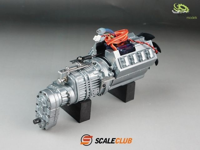Scala Allradgetriebe 3-Gang mit Motor,Lüfter und Schaltservo