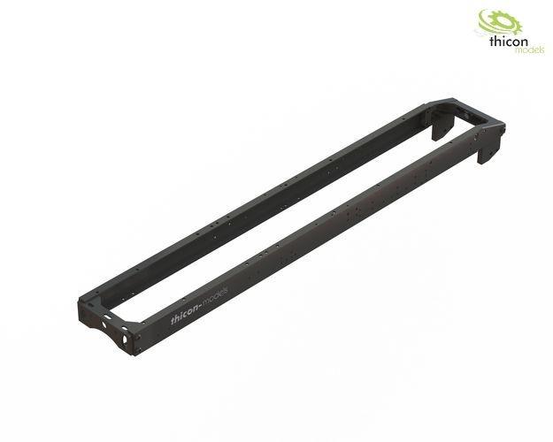 1:14 Rahmenbausatz 2-Achs (4x4) Alu schwarz