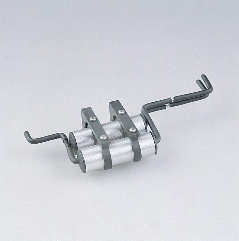 Druckluftkessel mit Halter poliert