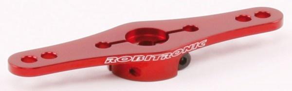 Aluminium Servo Doppel Arm 25Z (1-Ebene) Rot, R17019R