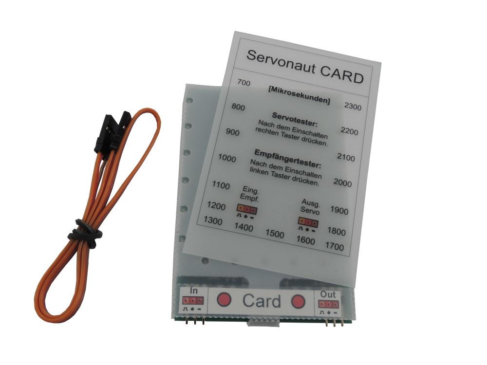 Servonaut Programmier-CARD und Servotester
