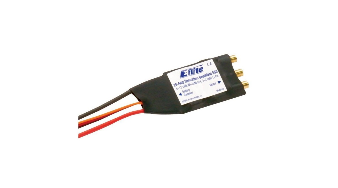 E-Flite 20 Amp Brushless ESC Speed Controller, EFLA311