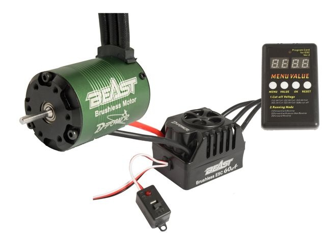 D-Power BEAST Combo RACE, BEAST 4P 3650-4350KV BL Motor & BE