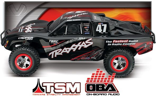 TRAXXAS Slash VXL 1/10 2.4GHz +12V-Lader +OBA&TSM