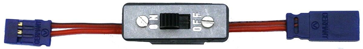 Schalterkabel JR, ohne Ladebuchse, 50 cm 0,35mm² Silikon