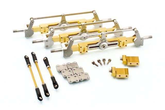 Umbausatz: 3 Stück Auflieger-Lenkachsen für Carson Goldhofer