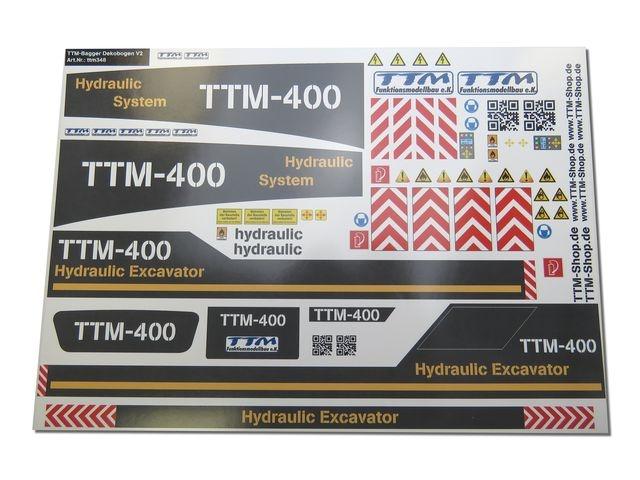 Dekobogen TTM-400 Kettenbagger