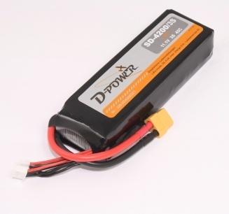 D-Power HD-4000 3S Lipo (11,1V) 30C - XT-60 Stecker,