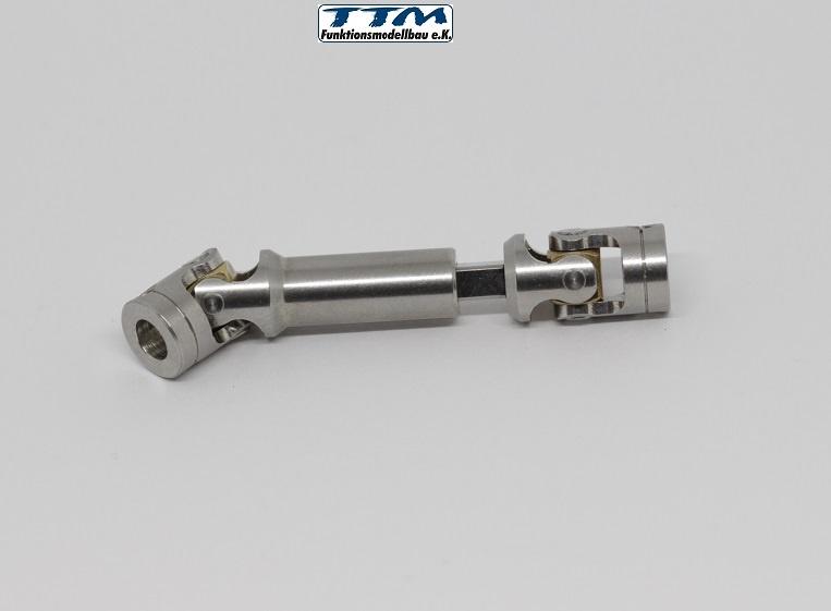 1:14 Kardanwelle Edelstahl 55-70mm mit 5mm Bohrungen