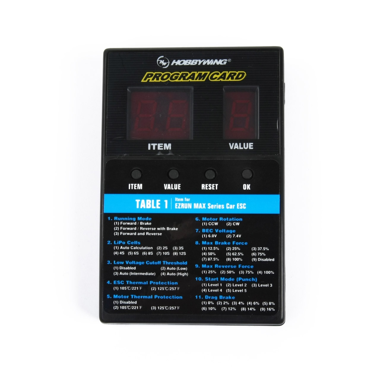Programmierbox LED Universal Xerun, Ezrun, Seaking Platinum