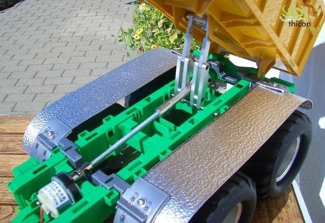 1:16//1:14 Spindelmechanik für Kippfahrzeuge aus Metall thicon-models