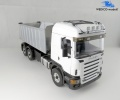 Scania Highline weiß 3-Achs Kipper Standmodell