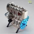Motor 4-Zylinder Metall Bausatz Motorblock in champagner